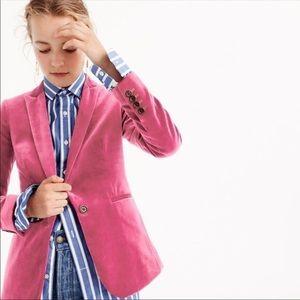 JCrew Parke Blazer in Dried Rose Pink Velvet